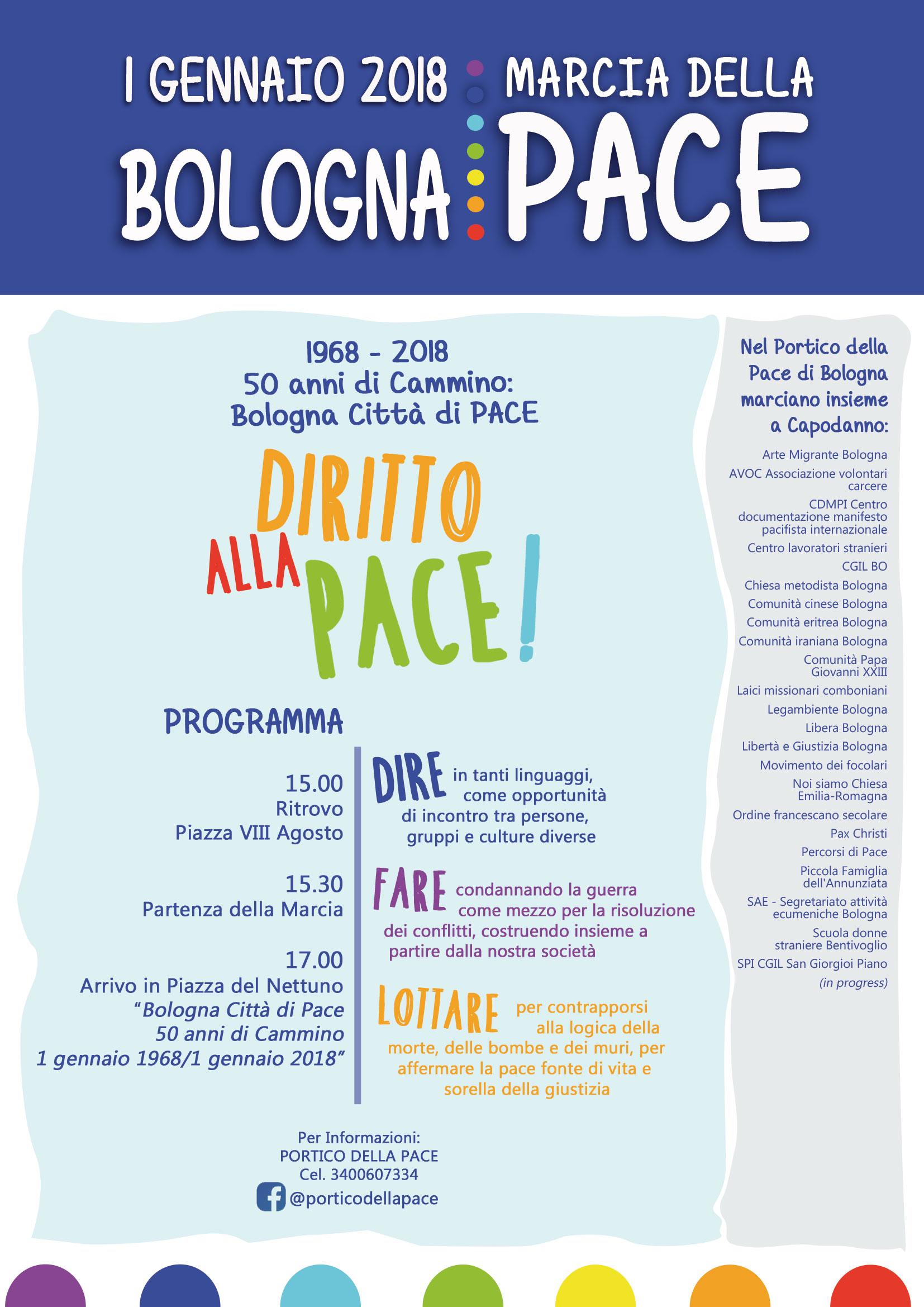 1 gennaio a bologna la marcia della pace for I ministero interno